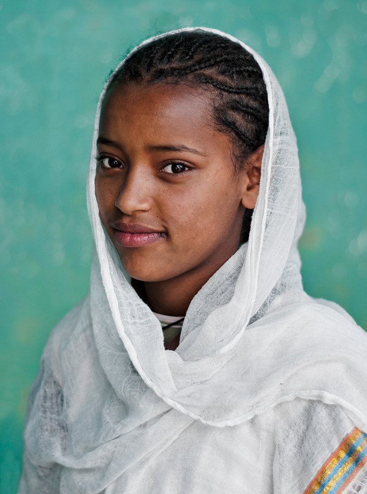 Young Orthodox Christian girl from Addis Ababa.<br /> <br /> Ethiopia, 2013.