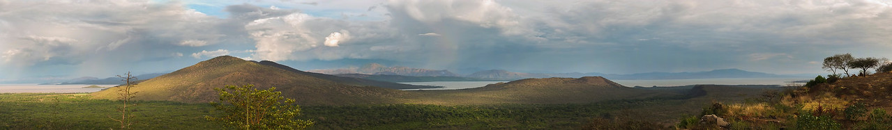 View of lake Chamo in the Nechisar National Park.<br /> <br /> Omo Valley, Southern Ethiopia, 2013.