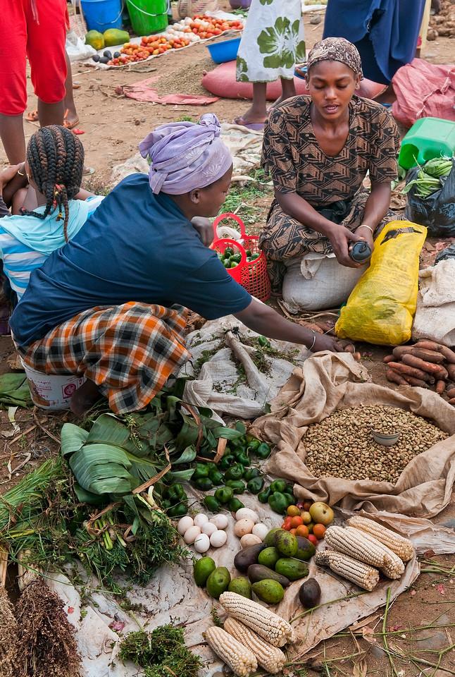 Local market in Jinka, Southern Ethiopia.