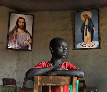 This is Kasahun, a nine year old boy who at his young age already works as a waiter at a local bar in Konso.  Omo Valley, Southern Ethiopia.