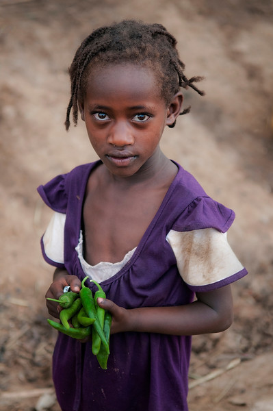 Local girl at the market in Jinka.<br /> <br /> Southern Ethiopia,