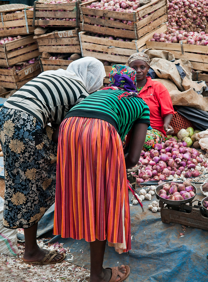 Market in the town of Jinka, Southern Ethiopia, 2013.