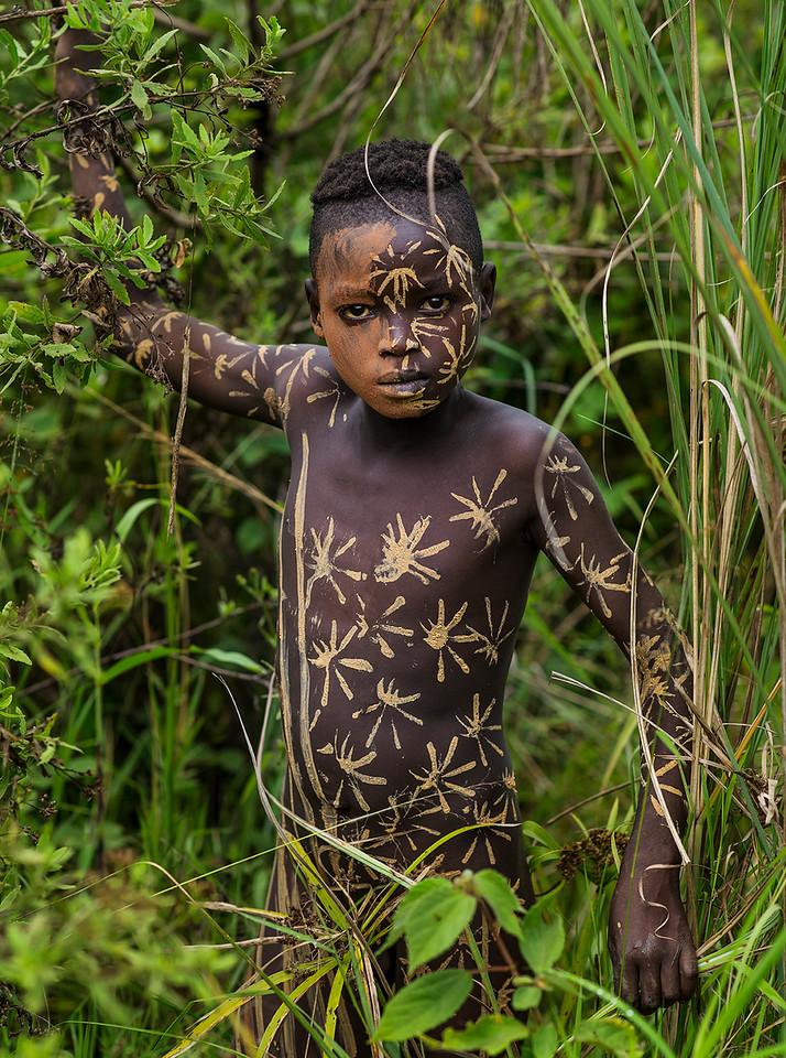 A young Suri boy.<br /> <br /> Southern Ethiopia, 2017.