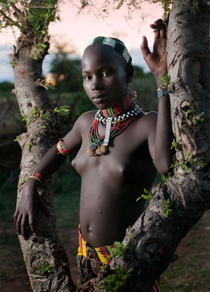 Young Hamar Girl.<br /> <br /> Omo Valley, Southen Ethiopia, 2013.