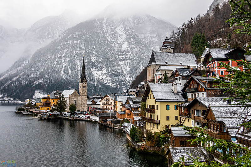 hallstatt from the classic village viewpoint