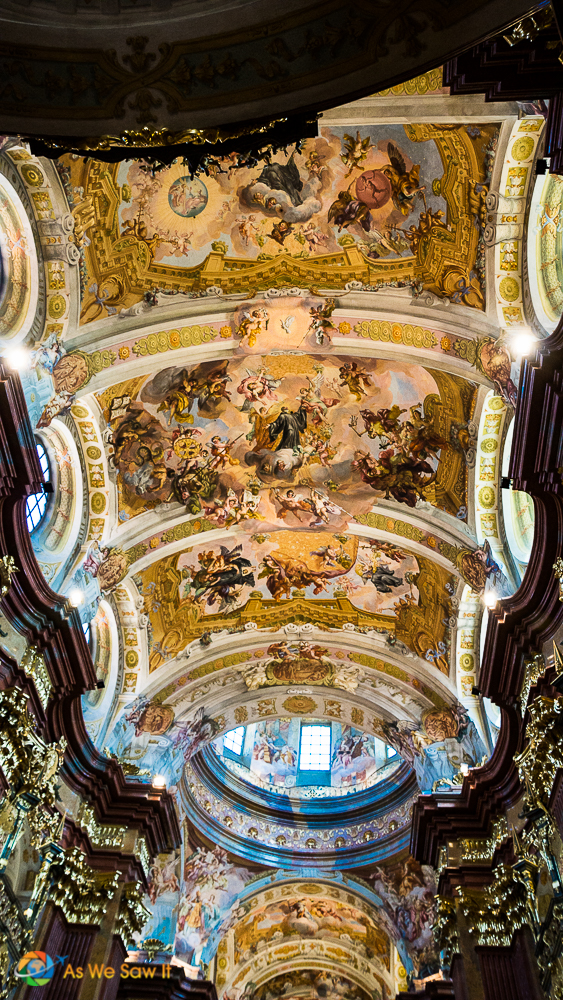 Melk sanctuary ceiling fresco