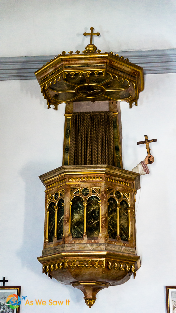 St. Francis church lectern in Cavtat, Croatia