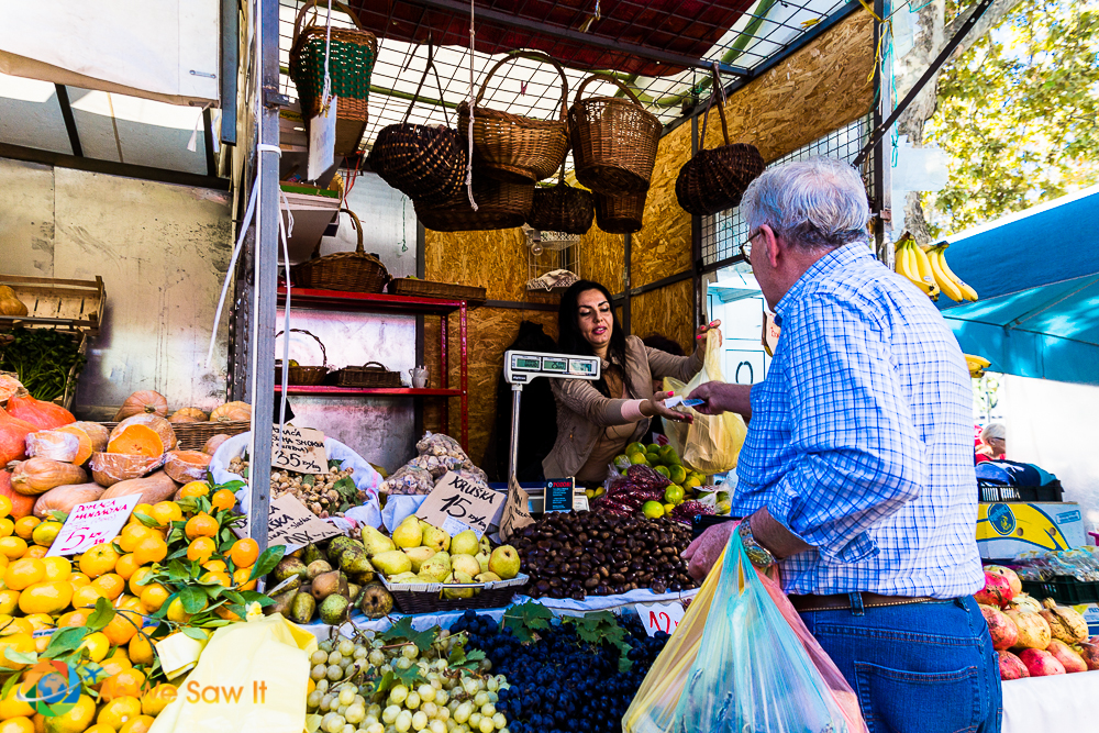 Great way to travel affordably: buy your lunch at a farmer's market