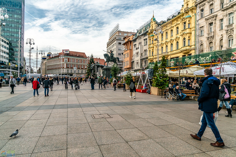 King Tomislav Square at Christmas time.