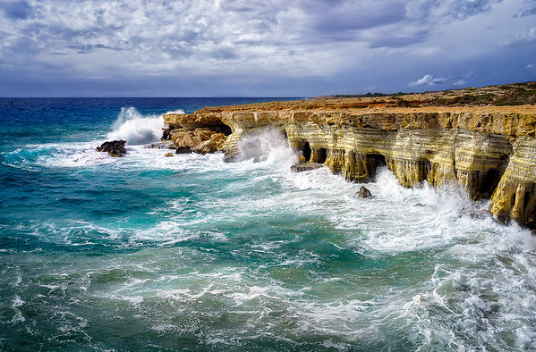 Cape Greco Sea Caves, Cyprus