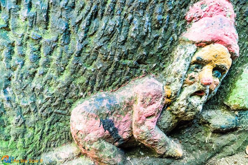 One of the dwarves on Dwarf Rock