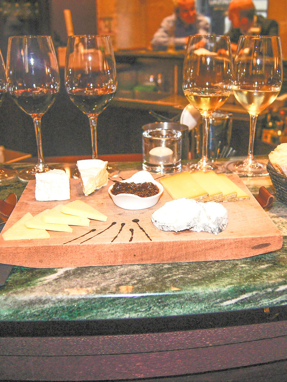 French people love wine, cheese and bread.