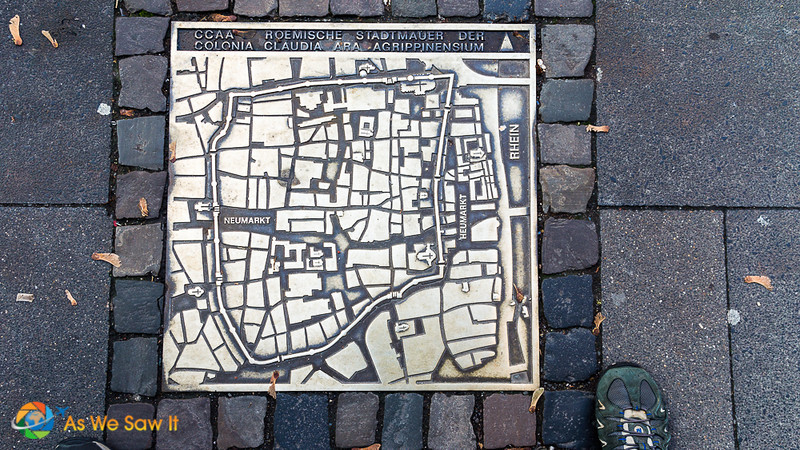 Map of the Original Walled Cologne