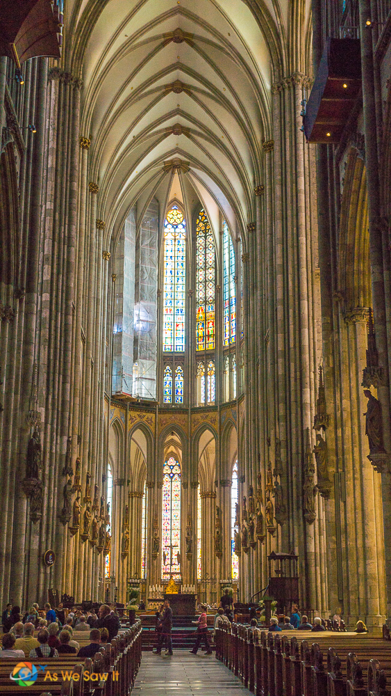 Beautiful, light filled Cologne Cathedral