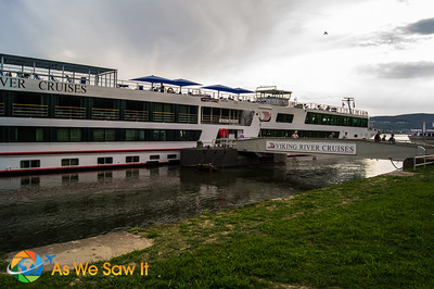 Viking Helvetia docked in Rudesheim, Germany