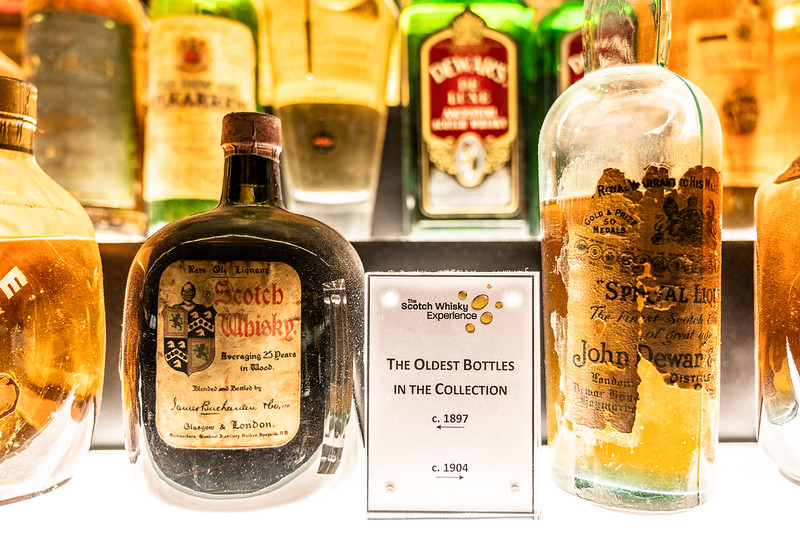 a bottle of scotch whiskey from 1897, less the angel's portion.