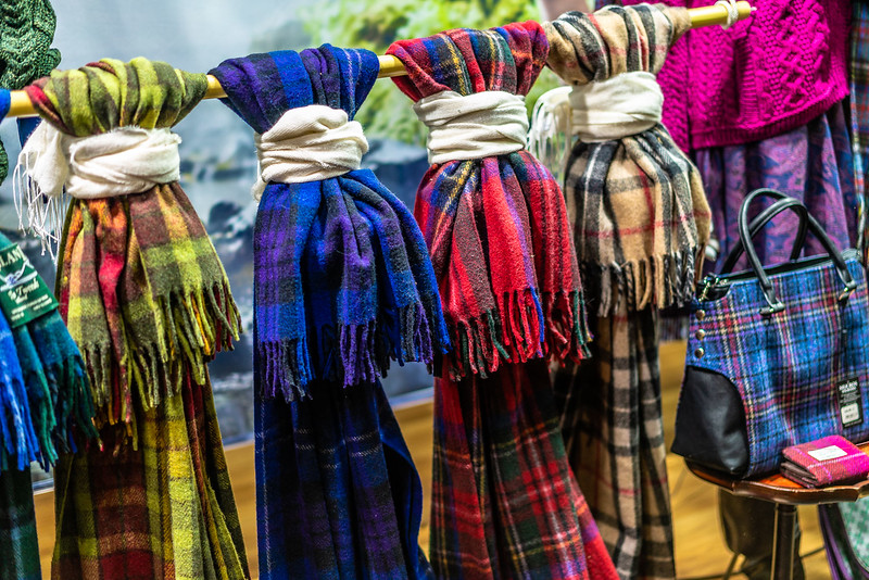 Tartan scarfs for sale in Inverness