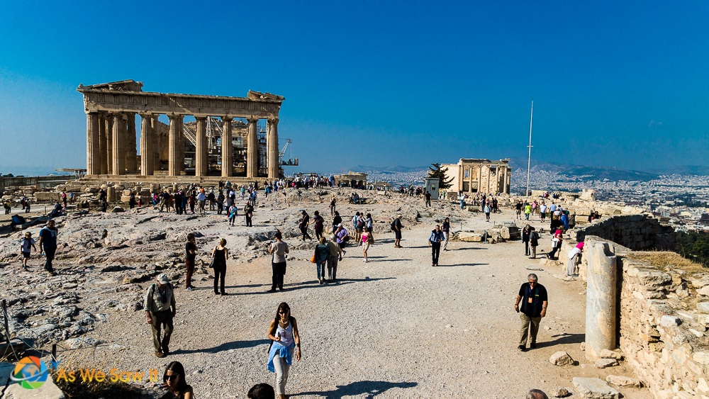 Must do: walk around the open area in the Acropolis