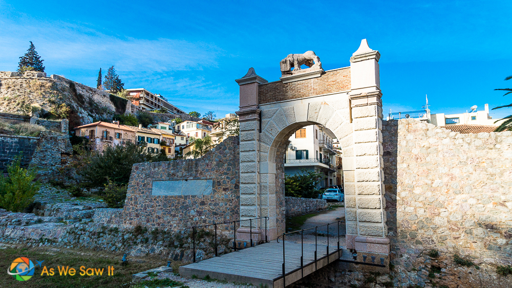 picturesque gate in Nafplio, Greece