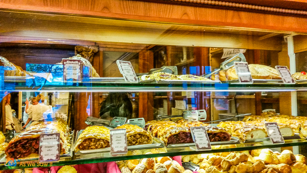 Pastry case at Cafe Ruszwurm