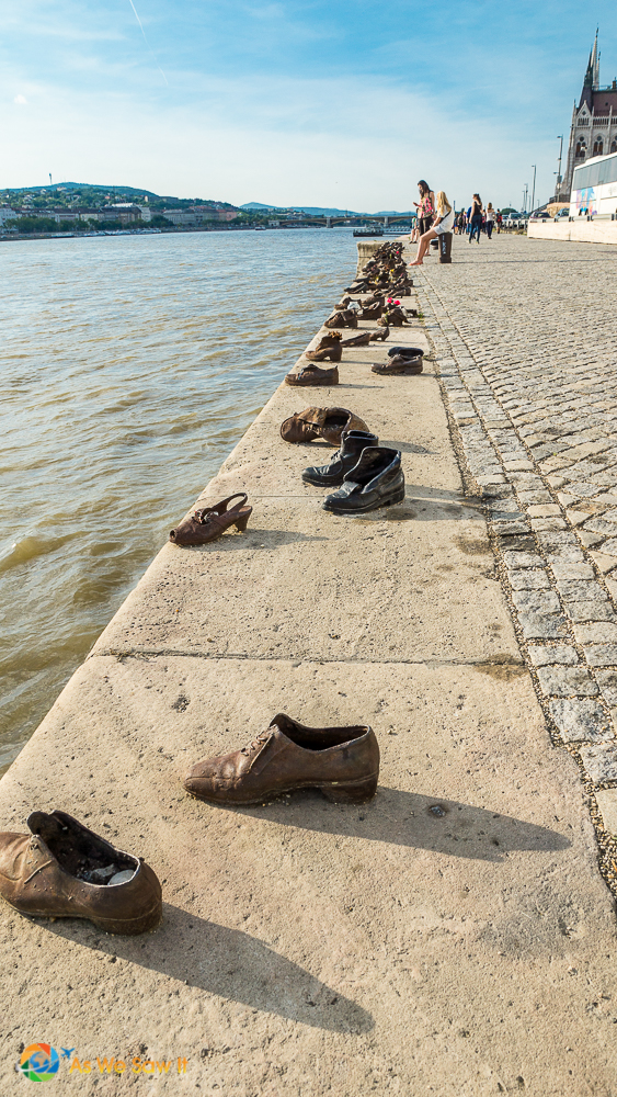 Shoes on the Danube. In 1944 Jews were stripped and shot in Budapest.