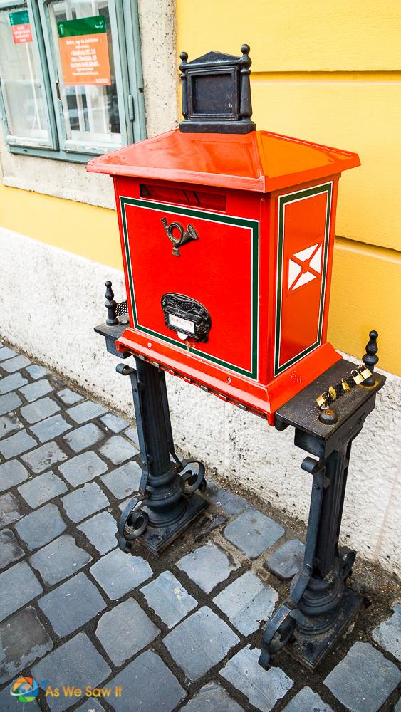 Historic Budapest letter box
