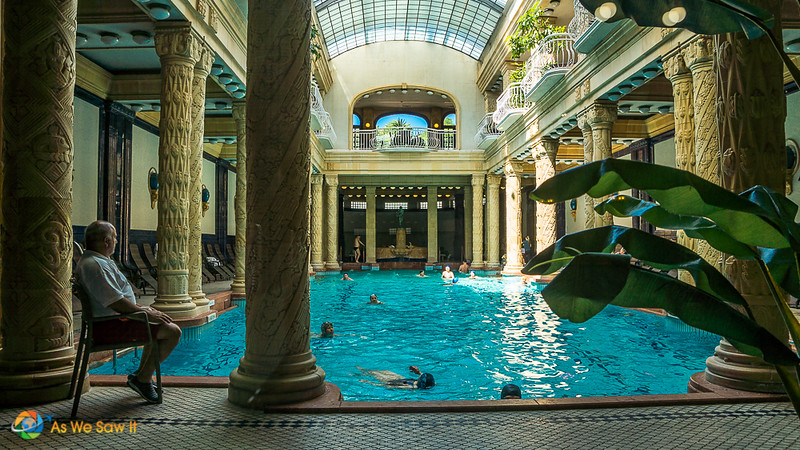 One of the historical Gellert Baths in Budapest, Hungary
