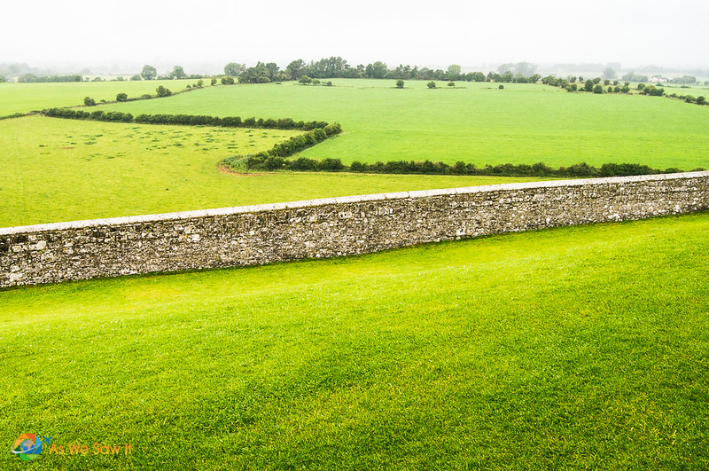 View of the County Tipperary landscape from Rock of Cashel