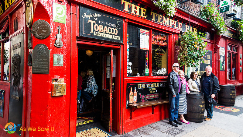 The Temple Bar is a must include on any pub crawl in Dublin