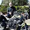 "Tom gets acquainted with his triumph tiger. <a href=""http://bit.ly/isleofmanadventure"">http://bit.ly/isleofmanadventure</a>"