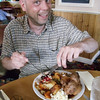 "Simon from UK. Motoquest van man, tucking into a classic english roast dinner <a href=""http://bit.ly/isleofmanadventure"">http://bit.ly/isleofmanadventure</a>"