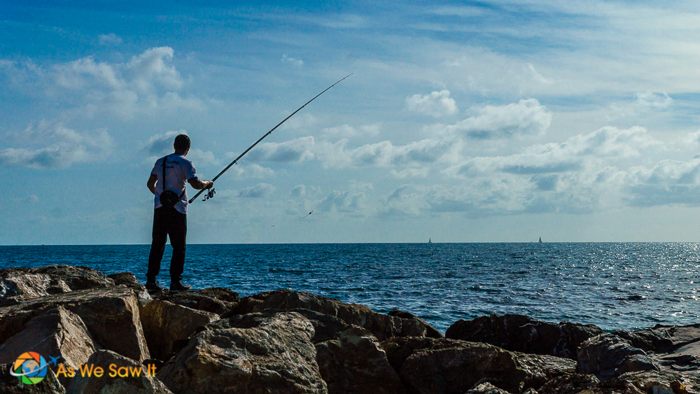 Fisherman in Civitavecchia, Italy