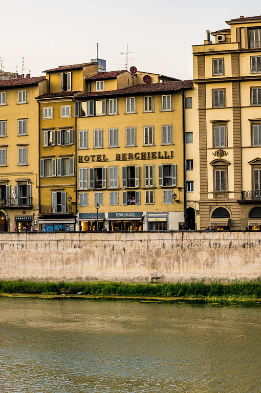 Hotel Berchielli from across the Arno.