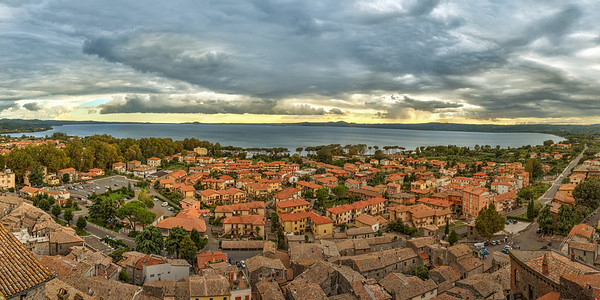 Bolsena, Italy from top of the Castle
