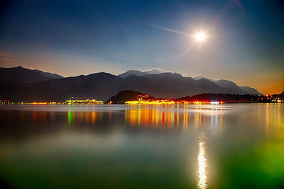 Super Moon over Lake Como