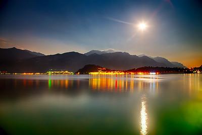 Super Moon over Lake Como