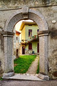 Doorway to the courtyard.  Circa 1680