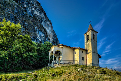 San Martino church - high above Lake Como