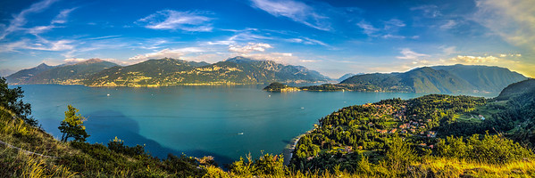 Lake Como's spectacular shores - dotted with small towns