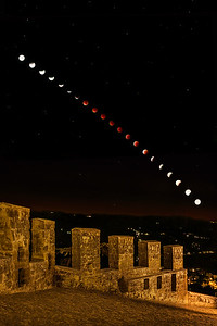 Supermoon Lunar Eclipse of 2015 over Orvieto, Italy