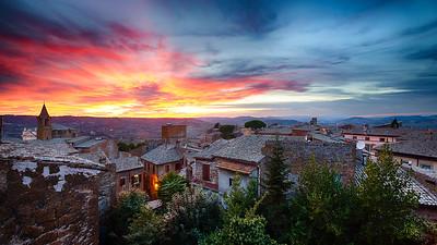 Sunset over Orvieto, Italy