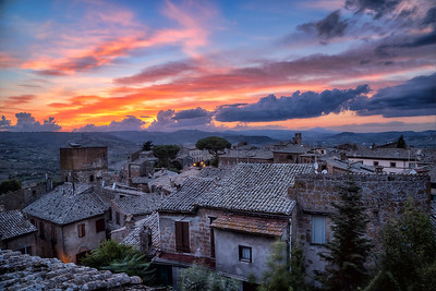 Ancient rooftops in Umbria