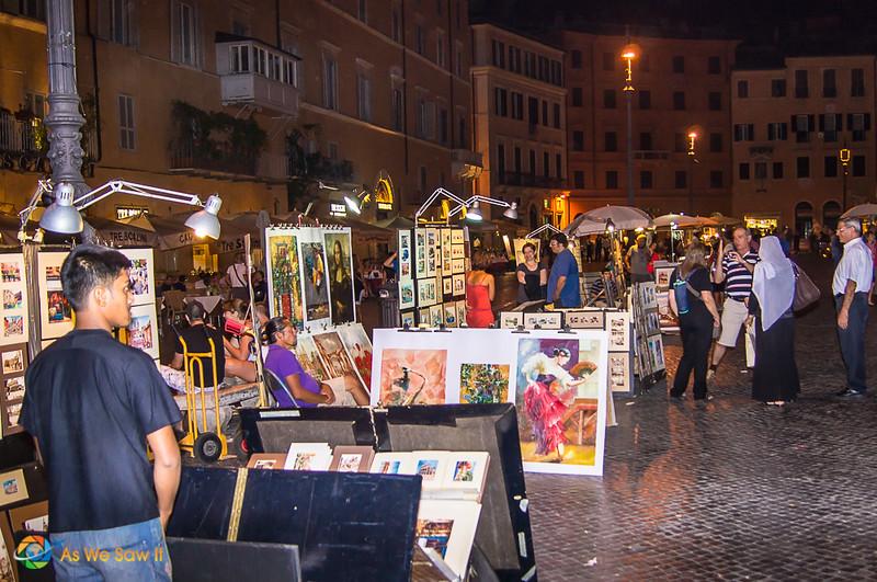 Street rt festival in Rome