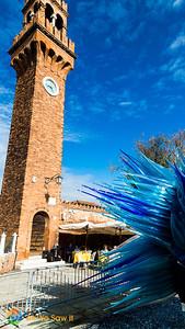 Clock tower, Campo Santo Stefano, Murano, Venice, Italy
