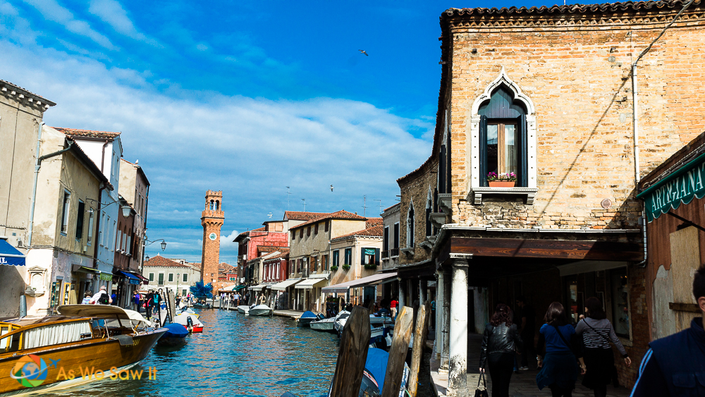 A canal is one of the best things to see in Murano