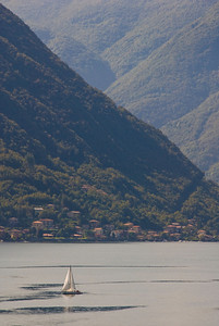 The view across the lake from the Villa Balbianello.
