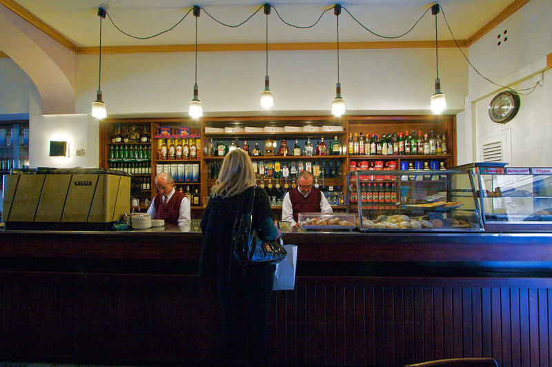 Cafe Prego bar - an institution in Valletta