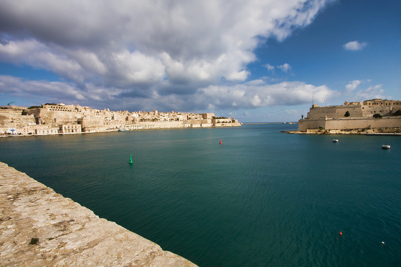 The Grand Harbor with Valletta in the background