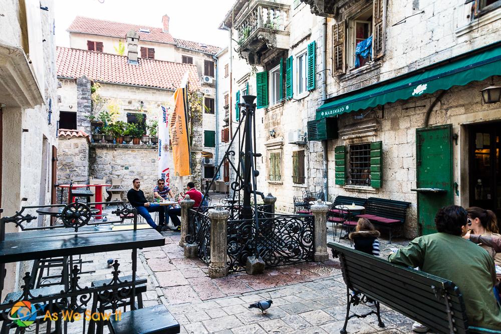 Back street in Kotor, Montenegro