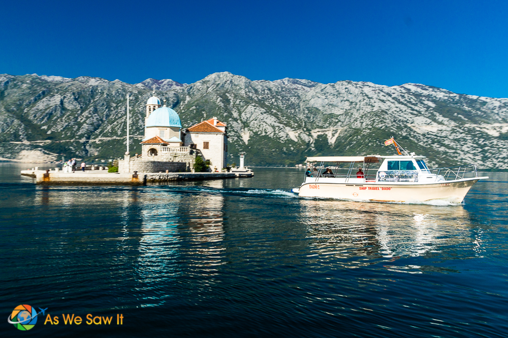 Our Lady of the Rocks is a manmade island in the Bay of Kotor.